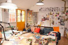 Rob Ryan's studio
