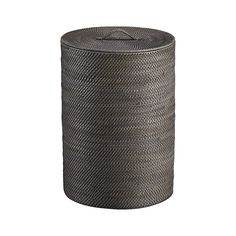 Sedona Grey Hamper With Liner Handwoven Rattan Finished In Warm Crafts A Tall Roomy Cylinder Lidded To Keep Laundry Or Used Towels Out Of