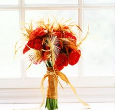red orange and yellow wedding flowers - Google Search