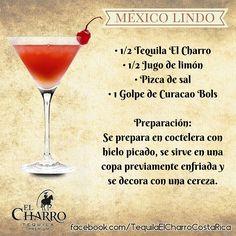 México Lindo, con Tequila El Charro! #TequilaElCharro #Tequila #Coctel #Cocktail #Mexico #MexicoLindo Non Alcoholic Cocktails, Tequila Drinks, Cocktail Desserts, Fruit Drinks, Bar Drinks, Cocktail Drinks, Cocktail Recipes, Wine Recipes, Martini