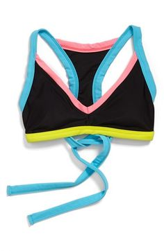 BCA Colorblock T-Back Bikini Top available at #Nordstrom