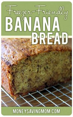 Freezer-Friendly Banana Bread -- This is the BEST banana bread recipe ever! It's delicious, fail-proof, and freezes beautifully!