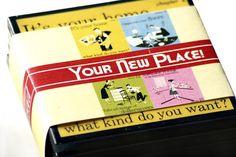 Housewarming Vintage Coaster Set  by CheltenhamRoad - $16.00. (Via Etsy www.etsy.com)