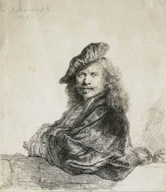 Rembrandt Self-Portrait, 1639.  Etching,