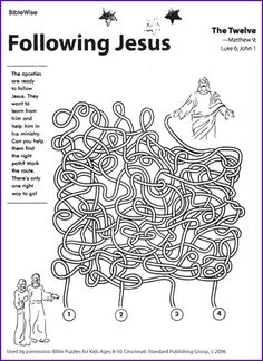 jesus and disciples coloring sheets | Activity Sheet: Fish Maze ...