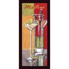 Barewalls Martini by Zoya Trofimova Custom Wood Framed Art Print