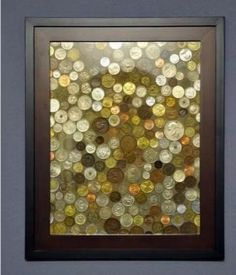 What to do with all those foreign coins you've saved. – Kristie Ouellette What to do with all those foreign coins you've saved. What to do with all those foreign coins you've saved. Diy Projects To Try, Crafts To Do, Home Projects, Cuadros Diy, Diy Casa, Foreign Coins, Coin Art, Art Diy, Home And Deco