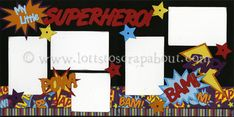 scrapbook pages with super hero characters - Google Search