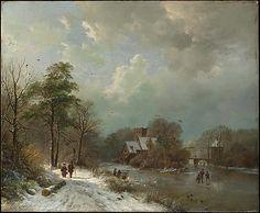 Barend Cornelis Koekkoek (Dutch, 1803–1862). Winter Landscape, Holland, 1833. The Metropolitan Museum of Art, New York. Catharine Lorillard Wolfe Collection, Bequest of Catharine Lorillard Wolfe, 1887 (87.15.30) #snow