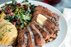 Chili-Rubbed Steak with Maple-Bourbon Butter