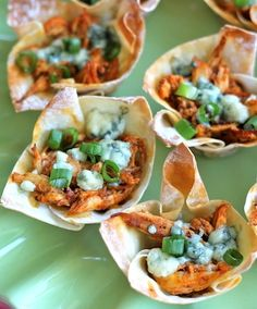 These buffalo chicken cups will be the perfect treat for game-day.