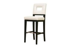 Faustino Cream Leather Barstool | Wholesale Interiors