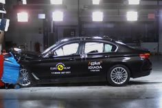 The 2017 BMW 5 Series continues its successful track record in Euro NCAP's Executive Car segment. The car showed good all-round performance in crash pr. 2017 Bmw 5 Series, Bmw 520d, New Bmw, Car Show, Stars, Model, Vehicles, Truck, News