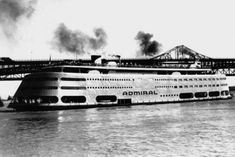 """The SS Admiral....once a St. Louis landmark, now """"scrap"""".....so sad!  So many great memories from rides up and down the river on this great boat!!"""