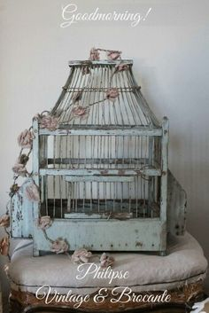 ☆ Brocante, déco vintage industrielle brocante campagne Shabby Cottage, Shabby Chic, The Caged Bird Sings, French Country Decorating, French Decor, Vintage Interiors, Bird Cages, Soft Colors, Bird Feathers