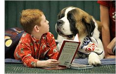 Autistic children can better learn to read if they have a dog with them. Read more by clicking on the photo.