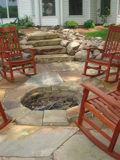 Nice rockers around the fire pit.
