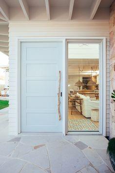 Backyard Reveal - Kyal & Kara : Kyal & Kara Hamptons Style Homes, Hamptons House, Dream Home Design, House Design, House Doors, Home Reno, House Front, Home And Living, Sweet Home
