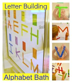 {Wash & Learn} Letter Building Alpha-Bath! on In Lieu of Preschool