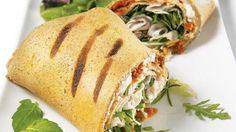 Crêpes-paninis au sarrasin et à la dinde   #Recettes IGA   Sandwich, Fromage, Recette facile