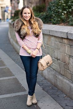 A Gap tee as featured on the blog Stripes & Sequins.