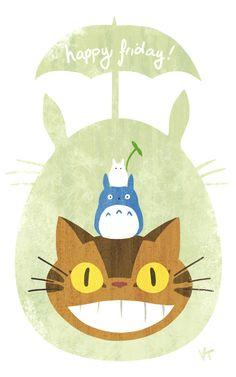 Here's a fun little Totoro drawing before work. Happy Friday everyone!