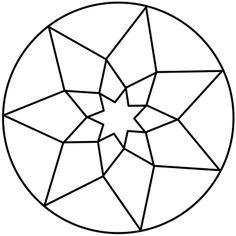 Mandalas de estrellas para trabajar la creatividad y la atención Stained Glass Designs, Stained Glass Patterns, Mosaic Patterns, Pattern Art, Doodle Patterns, Mandala Coloring Pages, Colouring Pages, Mandala Design, Mandala Art