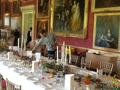 Goodwood House, the Ballroom with long table for wedding breakfast