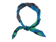 Blue & Green Striped Cotton Neckerchief #neckerchief