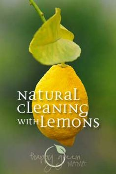 Natural Cleaning with Lemons, a safe and natural anti-bacterial that will keep your house clean without stripping it of necessary good bacteria. @happygreenmama1