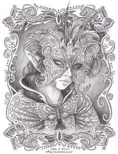 Masquerade: Winged Grace by Saimain.deviantart.com on @DeviantArt