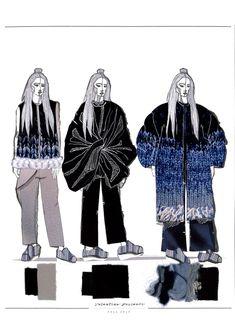 Fashion Sketchbook - fashion illustrations; knitwear line up; fashion portfolio // Valentina Desideri