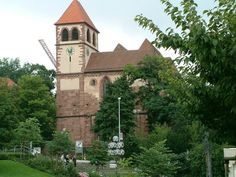 Pforzheim, Germany [shown: The frontside of Schlosskirche St. Germany Europe, Germany Travel, German Village, Kirchen, Vintage Inspired, St Michael, Mansions, House Styles, Places