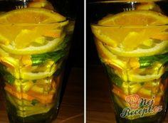 Recept Mátovo-citrusová limonáda Natural Make Up, Pint Glass, Detox, Cabbage, Food And Drink, Smoothie, Vegetables, Drinks, Tableware