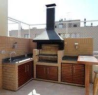 Diseño de quinchos modernos | Casa Web Outdoor Seating Areas, Outdoor Rooms, Outdoor Living, Parrilla Exterior, Brick Grill, Building Foundation, Casa Patio, Diy Kitchen Storage, Outdoor Cooking
