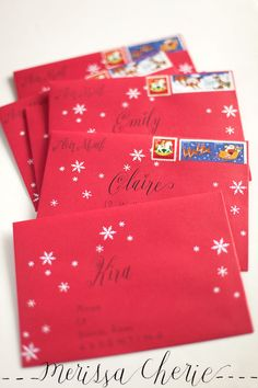 calligraphy on cards Kawaii Stationery and Snail Mail Ideas