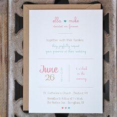 Wedding Invitations . Type Wedding by SweetBellaStationery on Etsy, $2.50
