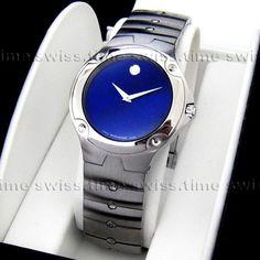 Men's Movado SPORTS EDITION SE Blue Sapphire Dial Swiss Quartz Watch   eBay