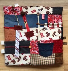 Ready to ship!! BOOT SCOOT & BOOGIE Alzheimer's Fidget Quilt Fidget Blanket Stroke Rehabilitation Dementia Patientby Restless Remedy by RestlessRemedy on Etsy