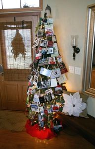 Christmas card tree.