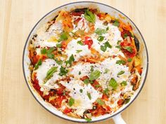 One Dish Dinners : Food Network skillet lasagna