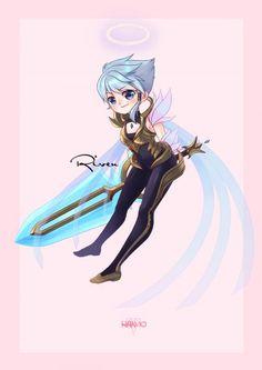 Dawnbringer Riven by HAN-10 HD Wallpaper Background Fan Art Artwork League of Legends lol (2)