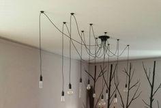 Edison bulb ceiling lamp - hanging lamp - E27 Squirrel Cage Filament light bulb - DIY set - edison bulbs - industrial pendant - 110v , 220v by LightwithShade on Etsy https://www.etsy.com/listing/184138449/edison-bulb-ceiling-lamp-hanging-lamp