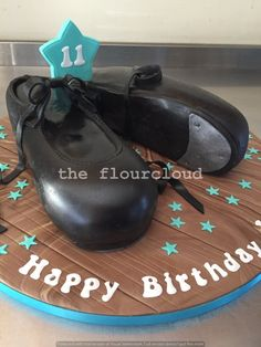 Go dancing in these tap shoes birthday cake.