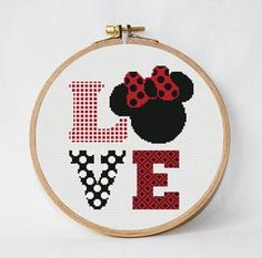 disney cross stitch pattern Love, instant download, PDF