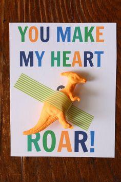 Dinosaur Valentine's with FREE printable // Love This Crazy Life