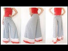 Cucire un Panta pareo Sewing Hacks, Sewing Projects, Harem Pants, Pajama Pants, Wrap Pants, Couture, Diy Clothing, Sewing Patterns, Kimono