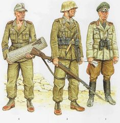 Taken From Osprey Books if you liked this Draws u can Search and Buy the Books I dont care Copy Rights and I dont sale this material Soldiers from 1944 - 1945 period