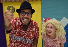 Javier del Pilar and Elle Sullivan. Photo courtesy of InterAct Story Theatre.
