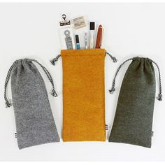 Indigo The Basic felt drawstring pouch provides a enough room to store anything you want while you are traveling or for home use.